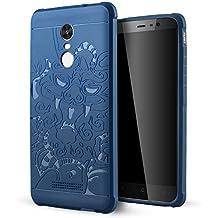 Xiaomi Redmi Note 3 Funda,Lizimandu Protectiva Carcasa de Silicona de gel TPU Transparente, Ultra delgada, Resistente a los arañazos en su parte trasera, Amortigua los golpes Case Cover Para redmi note3(Azul Dragón/Blue Dragon)