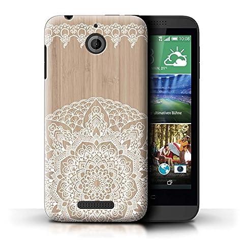 Coque de Stuff4 / Coque pour HTC Desire 510 / Mandala Bambou Design / Bois Dentelle Fine Collection