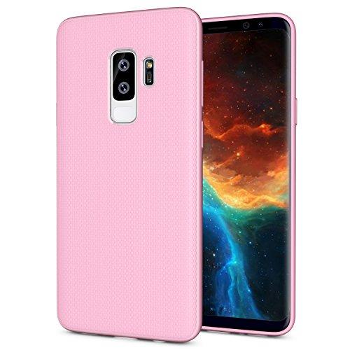 OEAGO Samsung Galaxy S9 Hülle, [Ultra Dünn] [Anti-Kratzer] [Stoßfest] TPU Gummi Silikon Skin Cover Design für Samsung Galaxy S9- Rose