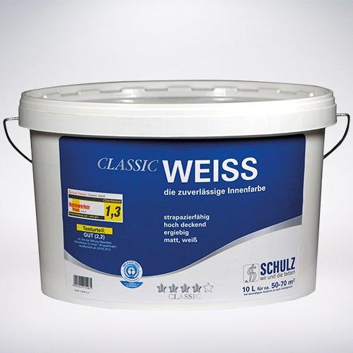 Preisvergleich Produktbild Schulz Classic Weiss, Wandfarbe, Innenfarbe, weiss, 5l