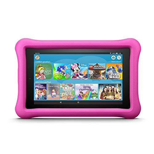Fire 7 Kids Edition-Tablet, 17,7 cm (7 Zoll) Display, 16 GB, pinke kindgerechte Hülle (vorherige Generation - 7.)