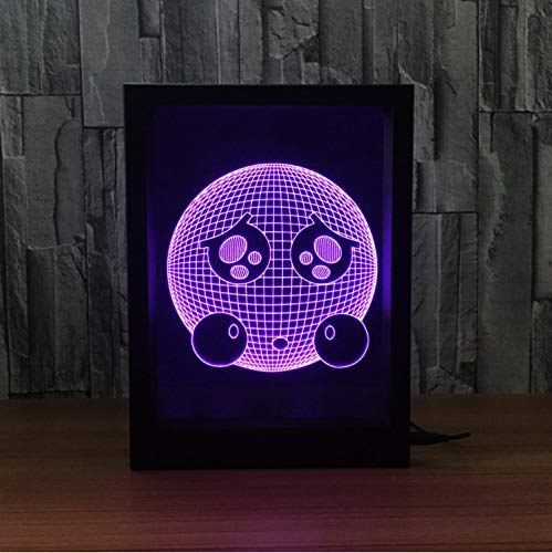Visuelle Illusionslampe 3d Leadership Night Lights Photo Frame With 7 Color Colored Home Decorative Lights Amazing Visualization Optical Illusion Awesome