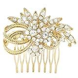 Tonsee Weiße Imitation Perle Kristall Braut Kopfschmuck Hochzeit Kleid Accessoires Braut Haarschmuck (One size, E)