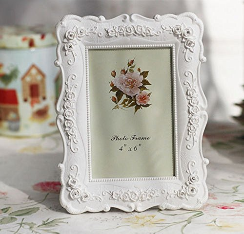 interestingr-6-inch-white-resin-rose-photo-frame-creative-photo-frame