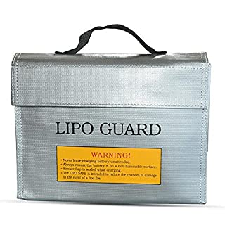 Allbusky LiPo Battery Guard Bag Fireproof Safety Protection Bag Charger Sack (24*18*6.4cm)