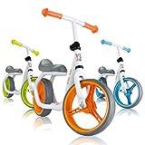 BABY VIVO Bicicleta de Equilibrio Bicicleta sin Pedales Niños 12' Sillín Bici regulable Correpasillos Balance Impulsor Naranja - disponible en diferentes colores
