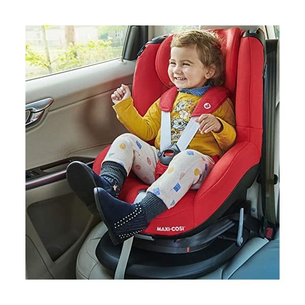 Maxi-Cosi Tobi Toddler Car Seat Group 1, Forward-Facing Reclining Car Seat, 9 Months-4 Years, 9-18 kg, Sparkling Grey Maxi-Cosi Toddler car seat suitable for children from 9 to 18 kg (approximately 9 months to 4 years) Install theMaxi-Cosi Tobi car seatusing the car's seat belt and the integrated belt tensioner ensures a solid fit Spring-loaded, stay open harness to make buckling up your toddler easier as the harness stays out of the way 8