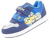 Despicable Me Minions Morton Blau und Gelb Klett Turnschuhe UK Größen Kinder 7 - Erwachsene 1 - Blau, 9 UK Child