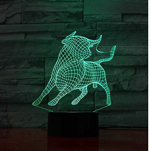 Cabra 3D Lámpara De Ilusión Óptica Led Interruptores Táctiles De Luz 7...