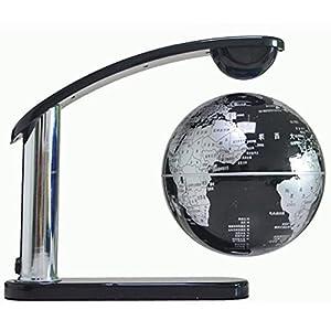 Levitación magnética LED 6 pulgadas luces mapamundi flotante de globo de levitación magnética para decoración de escritorio