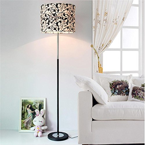 MEHE@ mode personnalité créatif Mode simple en noir et blanc phoenix lampe de sol en fleur salon de personnalité chambre en tissu lampe sur pied 38 * 155cm Lampadaires