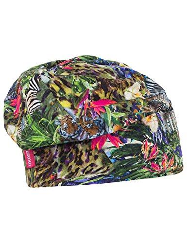maximo Kids - Beanie Short, Bedruckter Jersey - Bonnet - Fille Multicolore - Mehrfarbig (sattes grün - Afrika 37)
