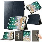 Cover Case 2018 Veröffentlichung Folio Leather Wallet Card Stand Case Schutzhülle Für iPad Pro 12.9in (Schwarz)