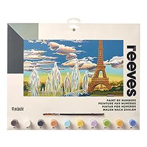 Reeves - Creatividad - Pintar por números - Grande, Torre Eiffel