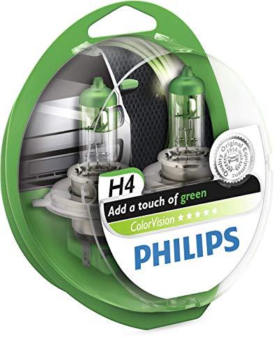 Philips PH CVH4G Colorvision H4 12 V, Vert, Set de 2