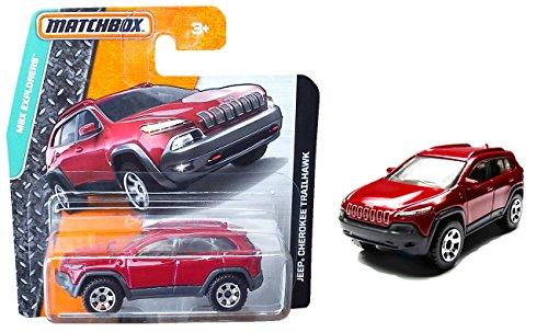Preisvergleich Produktbild Matchbox Jeep Cherokee Trailhawk Rot - MBX Explorers - SUV Geländewagen 4x4 off Road