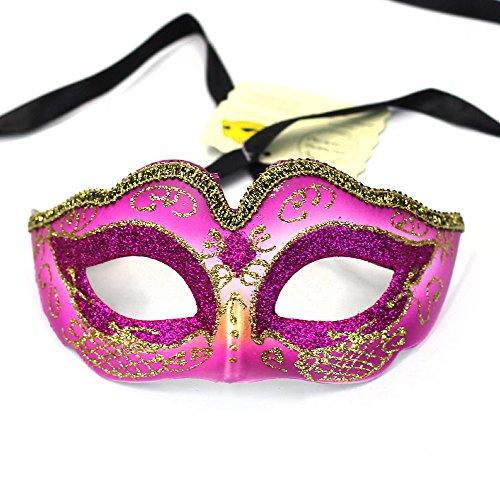 e Maske, Coxeer Prinzessin Dance Maske Metall Schmetterling Maske für Halloween Masquerade Maske für Halloween, hot pink (Malen Sie Gesichter Für Halloween)