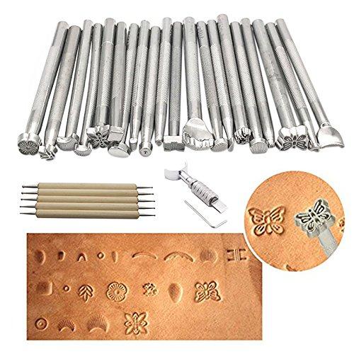 Lederpolster Leder Nähte Werkzeug, Leder Carving Arbeiten Sattel macht Tools Set DIY Leder Craft Kit