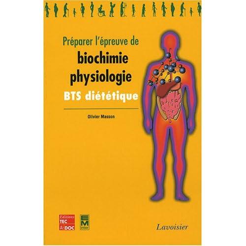 Préparer l'épreuve de biochimie-physiologie BTS diététique