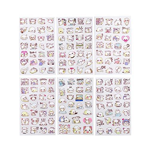 Qinlee Sticker Kreatives Fotoalbum Handy Deko Aufkleber Tagebuch Aufkleber Home Schlafzimmer Dekoration Wandaufkleber DIY Dekoration Memo Scrapbook Notebook Maker Geschenk 16.2cm*8.8cm Sea Lion -