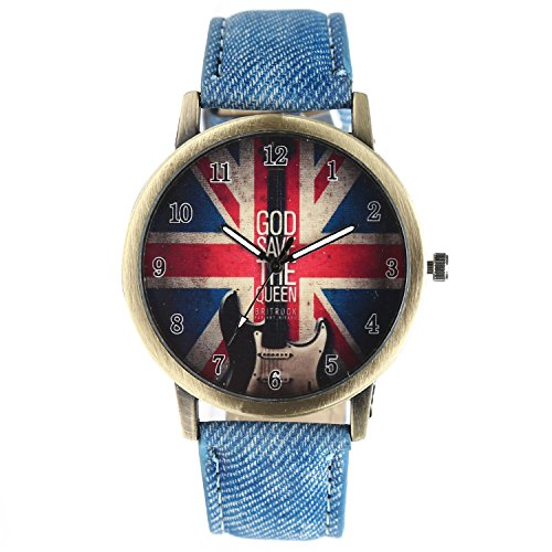 North Moon Denim Jeans strap ALW009 Analog Couple'sWatch