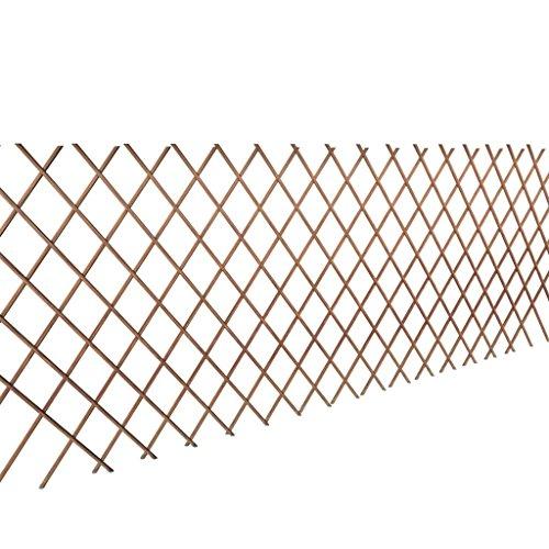 WT Trade 5er Set Premium Rankgitter aus Weide Holz 90 x 180 cm | Spalier Rankhilfe Gitter Scherenspalier | zusammenfaltbar Gartenzaun variabel verstellbar