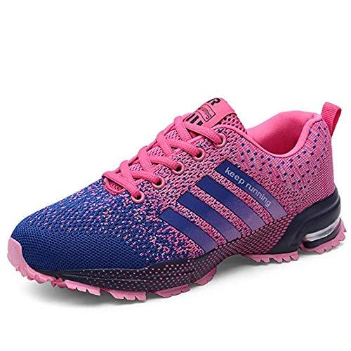 5 Road-running-schuhe (QIDI Herren Laufschuhe, Air Cushion Trail Fashion Sneakers Leichte Tennis Sport Sneakers Herren Road Running Schuhe, Athletic Fitness Schuhe für Frauen (Color : Pink, Size : 36))