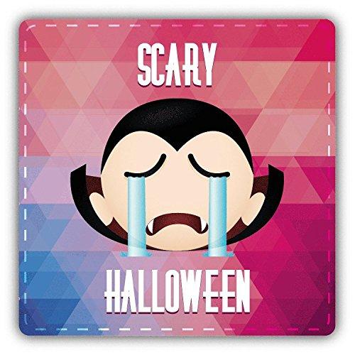 (Dracula Smile Scary Halloween Slogan Hochwertigen Auto-Autoaufkleber 12 x 12 cm)