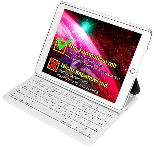 inateck Tastatur + Hülle für das neue iPad 9,7 oder das iPad Air1, Keyboard Case mit automatischer wake/sleep- und Mulit-Angle- Ständer-Funktion(BK2003) Angle Ständer Für Laptop