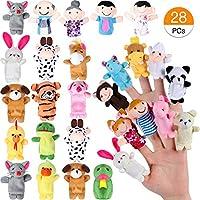 Joinfun 28pcs Set di Pupazzi da Dito per Bambini 22pcs Cartoon Animal Hand  Toys 6 Pezzi c28416a6865
