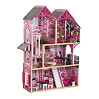 KidKraft 65944 Bella Wooden Dolls House with furniture and accessories included, 3 storey play set for 30 cm / 12 inch dolls