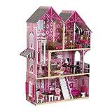 KidKraft 65944 Casa delle bambole in legno Bella per bambola di 30 cm con inclusi 16 accessori e 3 livelli di gioco