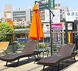 NTS Sedie in Rattan Mobili Sedia da Piscina Sedia da Spiaggia Spiaggia Sole, Piscina Arredamento da Esterno Lettino Chaise Lounge, Set di mobili in Vimini in Vimini