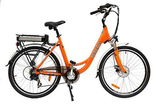 PEDECO 56027 Electric Bike Folding Street, Orange, Large/Size : 26