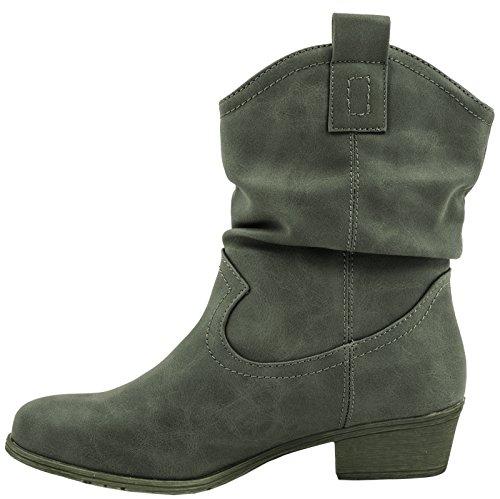 Elara - Stivali Donna Verde scuro