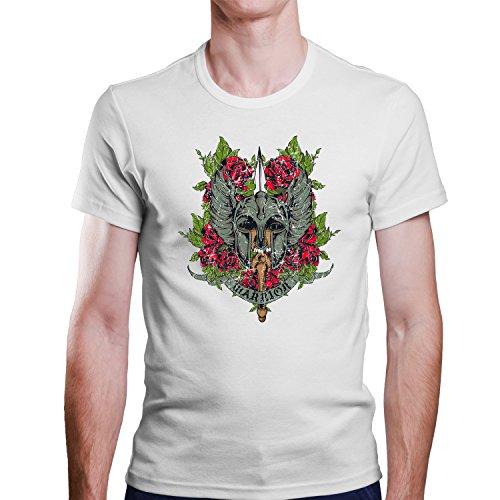 Warrior / Vikinger Krieger T-Shirt / Größe XS-4XL / Ideales Geschenk Weiß