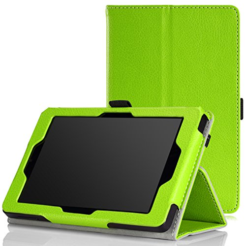 MoKo Amazon Kindle Fire HD 6 2014 Case - Sottile Pieghevole Cover Custodia per Amazon Kindle Fire HD 6 Inch 2014 Tablet, VERDE (Con Smart Cover Auto Sveglia/Sonno)