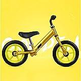 Sliding Car Laufrad Für, Kleinkind-Push-Bike mit Punktions Festem Reifen Für Kinder, 12 Zoll Kinder-Segel Fahrrad,Gold
