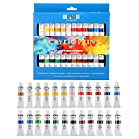 24 Colors Oil acrylic Paints Set Water Color for Hand Painted Wall Painting Textile Paint Nail Glass art Painting Paint Fabric Brightly Colored art Supplies Drawing Tools