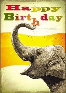 Joyeux anniversaire éléphant cartes de vœux by Max Hernn