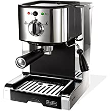 BEEM Espresso Perfect Ultimate 20 bar, Espresso-Siebträgermaschine mit italienischer 20 bar Profi-Pumpe und integriertem Milchaufschäumer, Chrom