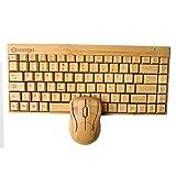 Sengu SG-KG101-MG94-N 2,4gHz teclado completo de bambú hecho a mano inalámbrico y ratón Combo (1Key Pad)