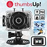 Thumbs Up Registrazione Video HD 1.3MP Fotocamera Impermeabile Sport d' Azione con 1.77TFT LCD Screen Crisp 5MP/3MP/1MP Immagine opzioni Scheda MicroSD da 8GB Inclusa mAh al Litio Ricaricabile
