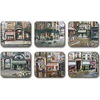 Jason D2239 The Village Square Coasters, Set of 6