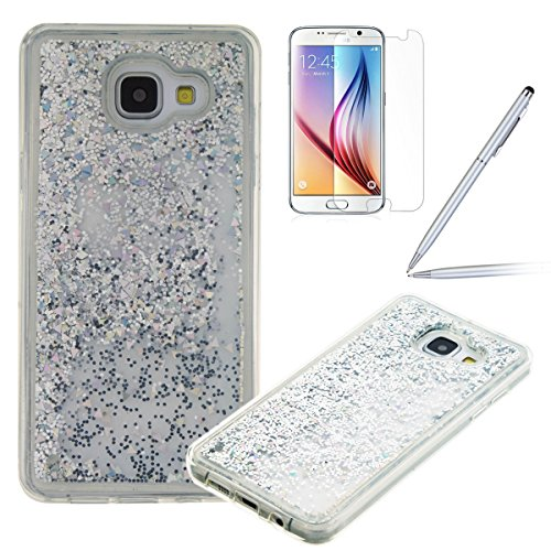 Felfy-Bling-Coque-pour-Samsung-Galaxy-A3-2016Galaxy-A3-Coque-Liquide-Bling-Etui-Samsung-A3-Plastique-TPU-Silicone-Gel-Soft-Coque-EtuiSamsung-Galaxy-A3-2016-Case-Transparent-Cover-tui-de-protection-Cri