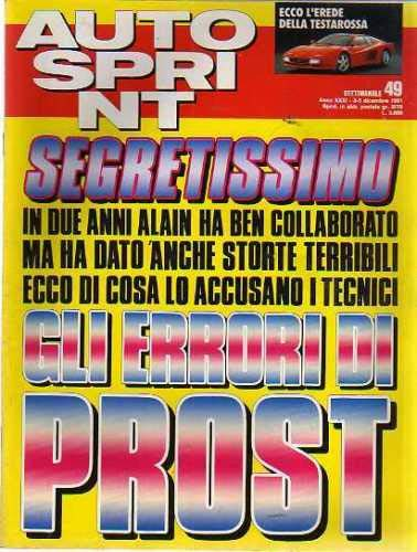 Autosprint Auto Sprint 49 Dicembre 1991 Senna, Prost, Sainz, Zanussi