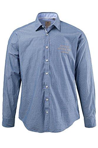 JP 1880 Herren große Größen   Hemd aus 100% Baumwolle   Shirt in blau mit weißen Punkten  Modern Fit, Kentkragen & Manschetten   Bis Größe 7 XL   blau XL 697108 71-XL (Knitterfrei Oxford-hemd)