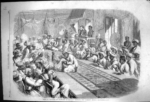 Stellt Wertvolle Regierung 1860 Verkaufs-Kalkuttas Indien Lucknow-Juwelen dar