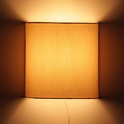 Craftter Plain BEIGE Color FABRIC Half Shade WALL LAMP Fixture