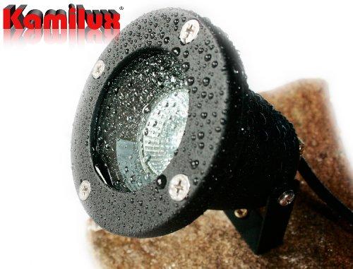 LED Bodeneinbauleuchte Piso 230V Teichbeleuchtung IP68 GU10 LED warmweiss
